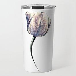 A single metallic tulip Travel Mug