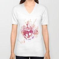 mars V-neck T-shirts featuring Mars by ODA Estudio