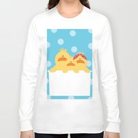 ducks Long Sleeve T-shirts featuring Ducks by SANTA