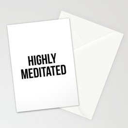 Highly Meditated Stationery Cards