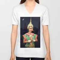 thailand V-neck T-shirts featuring Welcome Thailand by Ian Gledhill