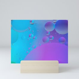 Abstract defocused background picture made with oil, water and soap Mini Art Print