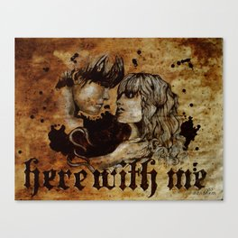 Here with me Canvas Print