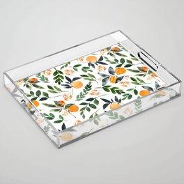 Orange Grove Acrylic Tray