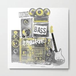 Beats, Bass & Guitar. Metal Print