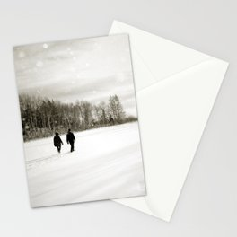 Walking Through Winter Stationery Cards