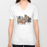 poker V-neck T-shirts featuring Polaroid Poker by Romayne Robinson