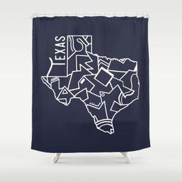 Texas Strong (Dark Blue) Shower Curtain