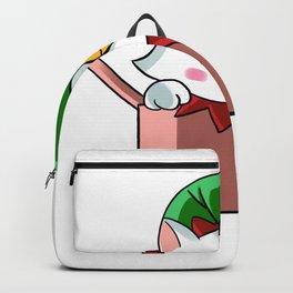 Cat Cat Christmas Elf elf children gift Backpack