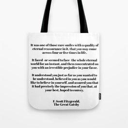 Fitzgerald quote Tote Bag