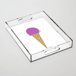 raspberry. sugar cone Acrylic Tray