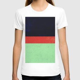 Navy, red and mint design T-shirt