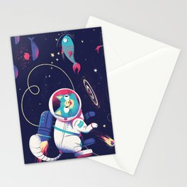 The Adventures of Space Cat Stationery Cards