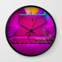 Sleeping on waves Wall Clock