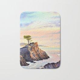 Pebble Beach Lone Cypress Tree Bath Mat