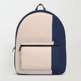 peach and navy stripes, minimalist, simple design, cool, chic, modern, elegant Backpack
