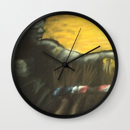 Justice Freeing Her Captives Wall Clock