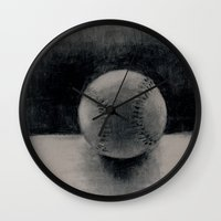 baseball Wall Clocks featuring Baseball by LeavittArtz