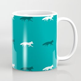 Teal Foxes! Coffee Mug