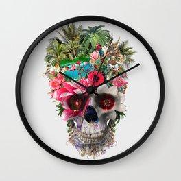 Summer Skull IV Wall Clock