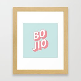 BO JIO Framed Art Print