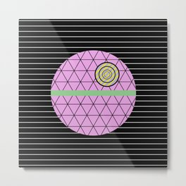 Death Star (Abstract, pastel, geometric artwork) Metal Print