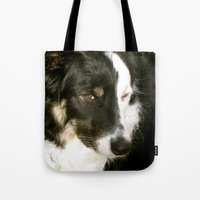 best friend Tote Bags featuring Best Friend by Layton Zimmages