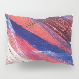 Los Angeles: A vibrant, abstract piece in reds and blues by Alyssa Hamilton Art Pillow Sham