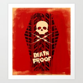 Death Proof - Movie Posters Art Print