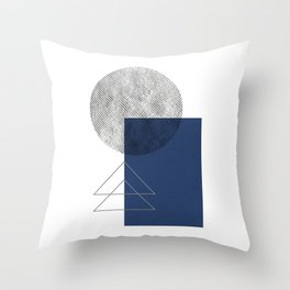 Geometric - Gray Blue Throw Pillow