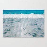 wave Canvas Prints featuring Wave by SensualPatterns