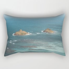 Na Mokulua Islands off Oahu's Coast Rectangular Pillow