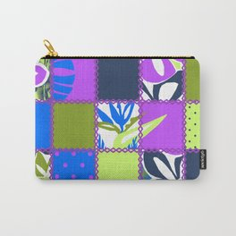 Pokii Hawaiian Hibiscus Flower and Patchwork Designs Carry-All Pouch