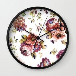 flower symphony Wall Clock