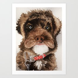 Fluffy Doggo Art Print