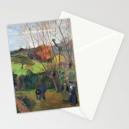 The willow tree  Paul Gauguin Stationery Cards