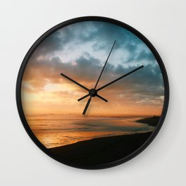 The last glow Wall Clock