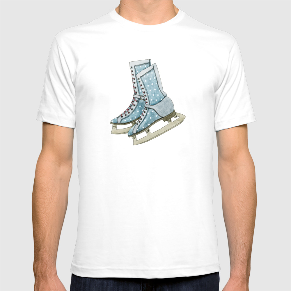 Polka Dot Ice Skates T-shirt by Yuliyart TSR974357