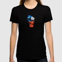 Chilean Flag on a Raised Clenched Fist T-shirt