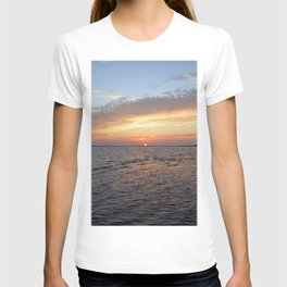 Watercolor Sunset, Janes Island 11, Maryland T-shirt