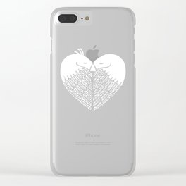 Love birds sitting on a tree Clear iPhone Case