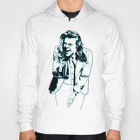 harry styles Hoodies featuring Harry Styles  by Ashley McKinney