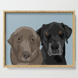 Two Labradors Serving Tray