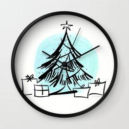 Holiday Greetings Wall Clock