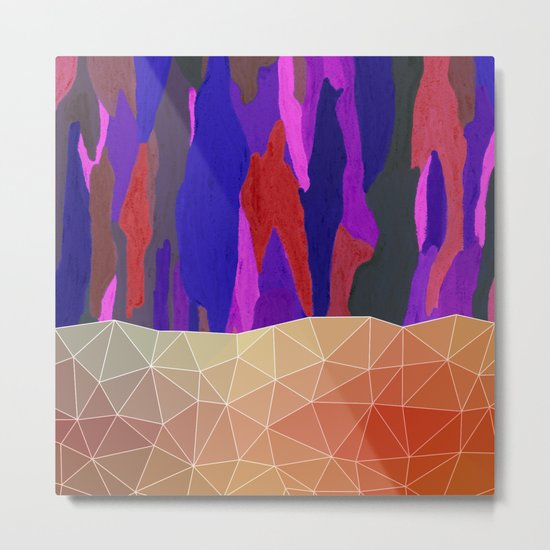 Abstract Colorful Pastel look Design Metal Print