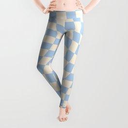 Check II - Baby Blue Twist — Checkerboard Print Leggings