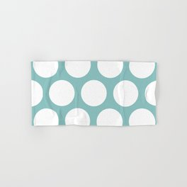 Chalky Blue Large Polka Dots Hand & Bath Towel
