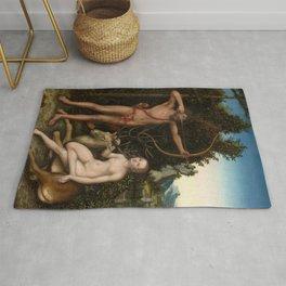 """Lucas Cranach the Elder """"Apollo and Diana"""" Rug"""