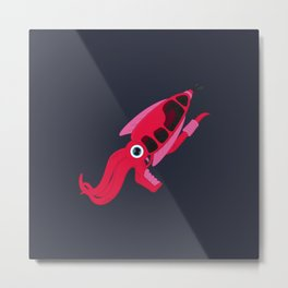 Squid Pistol Metal Print