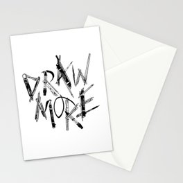 Draw More (BW) Stationery Cards